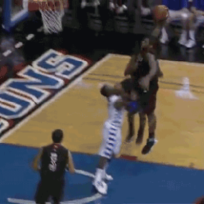 Chane Behanan Goes Knees To Face While Posterizing A DePaul Defender
