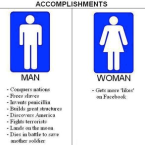 Women Can Do Anything Men Can Do,Except…