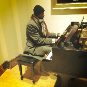 Kobe Bryant Crushing The Piano