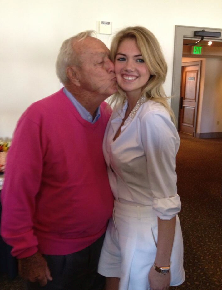 Arnold Palmer Met Kate Upton Yesterday And Got Real Fucking Handsy