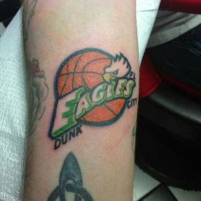 Florida Gulf Coast Fan Gets A 'FGCU Dunk City' Tattoo