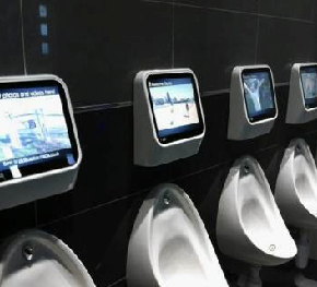 Triple-A International, Lehigh Valley, Introduces Urinal Gaming System For It's Male Stadium Bathrooms