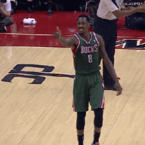 Milwaukee's Larry Sanders Let The Officials Know How Much He Appreciated Each One Of Them