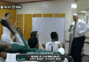 Miami Hurricanes Basketball Coach, Jim Larranaga Does The Boxing 2-Step