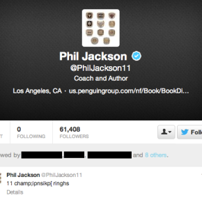 Phil Jackson Joins Twitter And Then Proceeds To Laugh At The World As He Tweets Away His NBA Championships