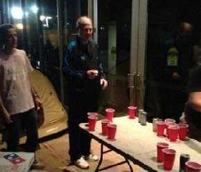 UCLA Coach Ben Howland Enjoyed A Nice Game Of Beer Pong With Student Athlete ShabazzMuhammed