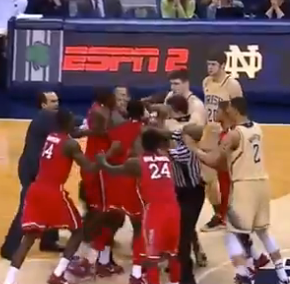 St. John's And Notre Dame Got Into A Little Fight At The End Of TheirGame