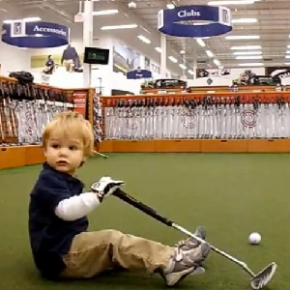 23-Month Old Owen Kopinski Drives For Show, Putts For Dough