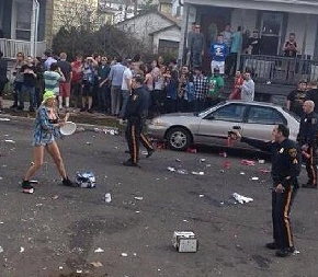 NJ Police Pepper Spray Wild Rutgers Block Party, But Take It Too Far With One Student