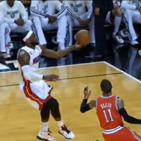 LeBron James Leads The Fast Break Alley Oop… To Himself